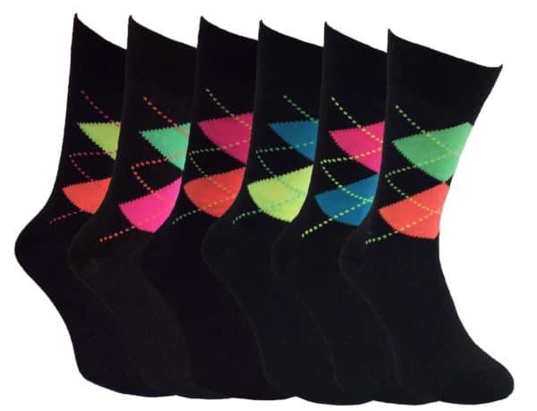 6 pack Neon Socks
