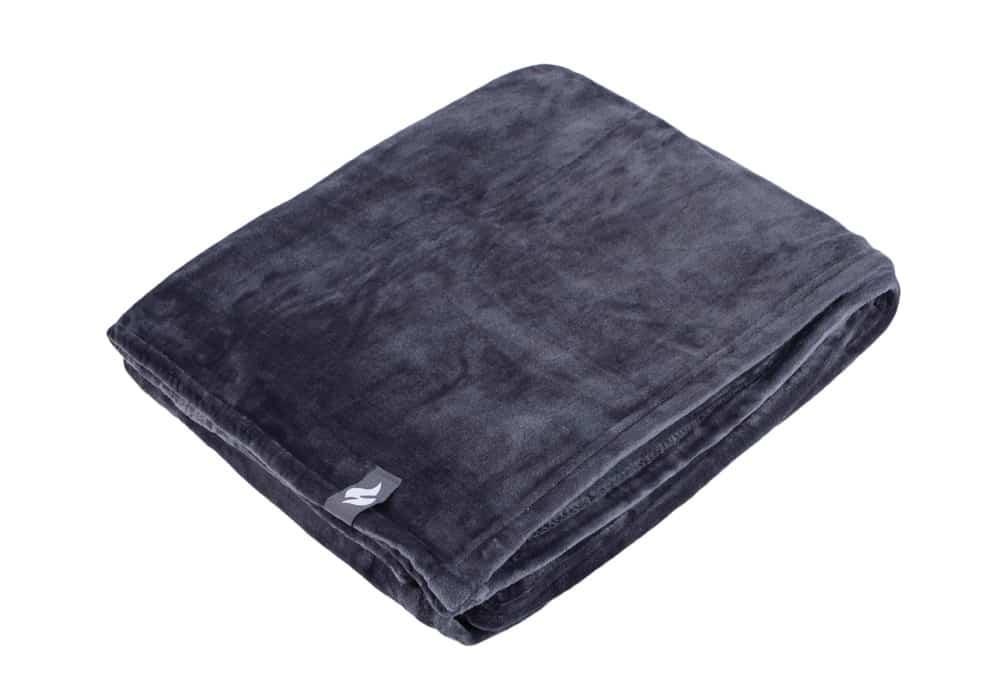 Heat Holders Extra Soft Silver Large Luxury Thermal Fleece Blanket