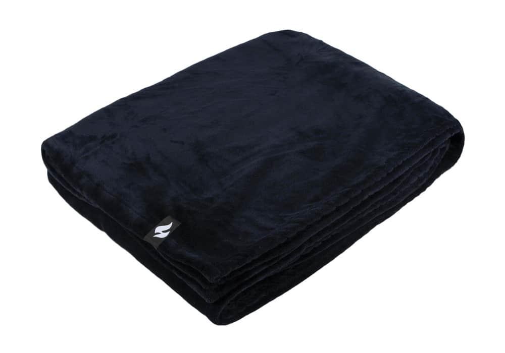 Heat Holders Extra Soft Black Large Luxury Thermal Fleece Blanket