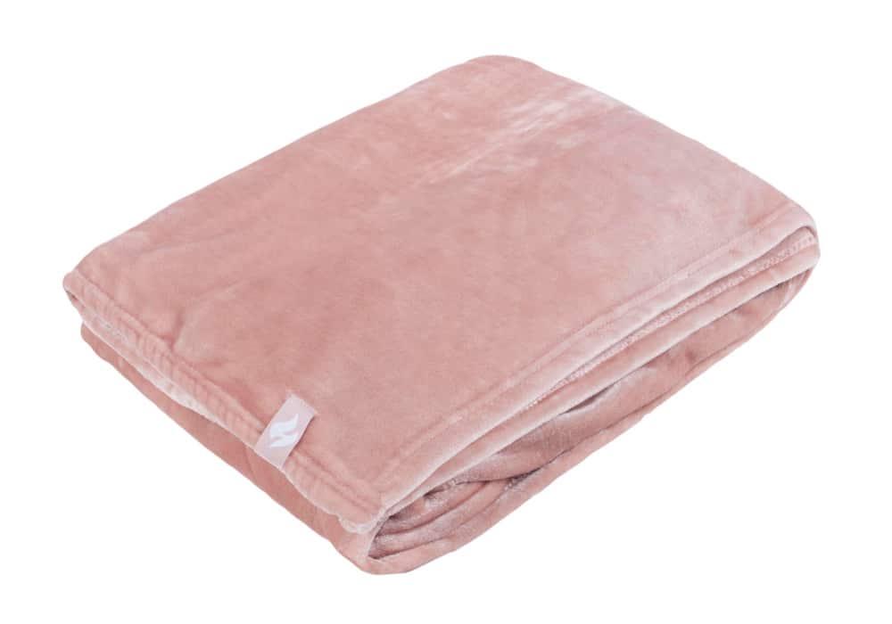 Heat Holders Extra Soft Pink Large Luxury Thermal Fleece Blanket