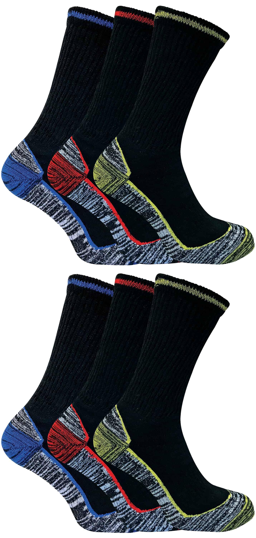 12 Pairs Women Girls Wool Socks Outdoor Walking Work Boot Thermal Socks UK 4-7