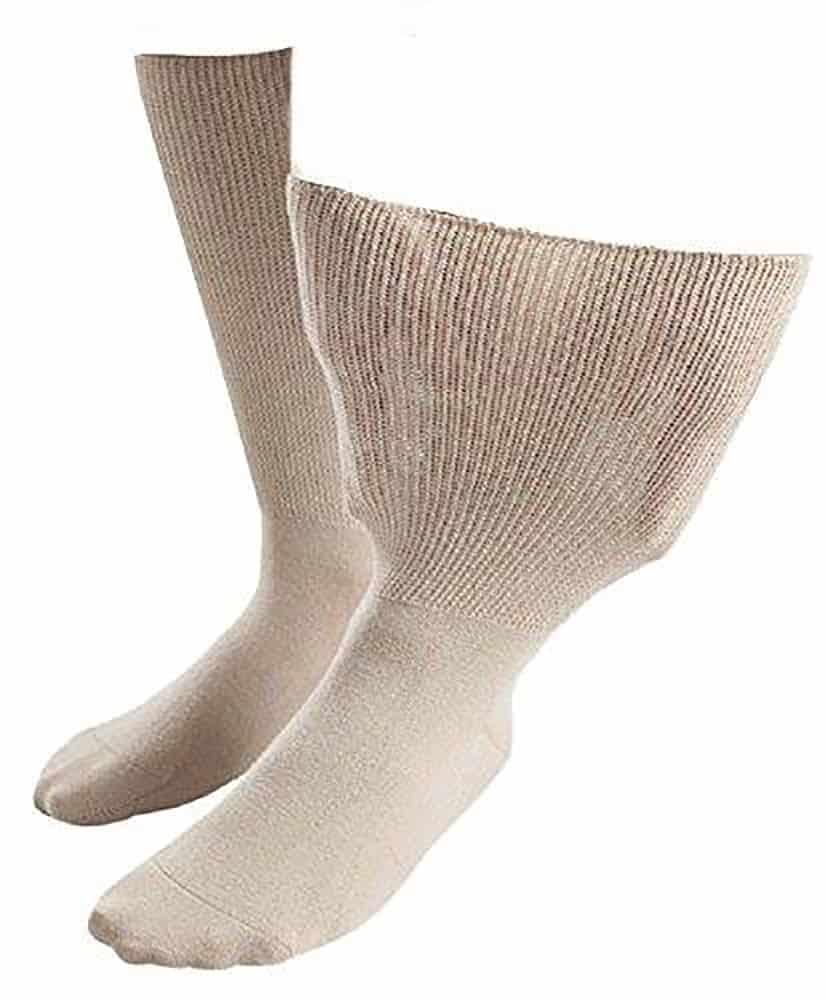 IOMI Extra Wide Oedema Socks in Beige