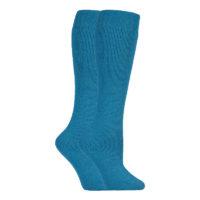 David James - Ladies Long Colourful Knee High Wool Wellington Boot Socks
