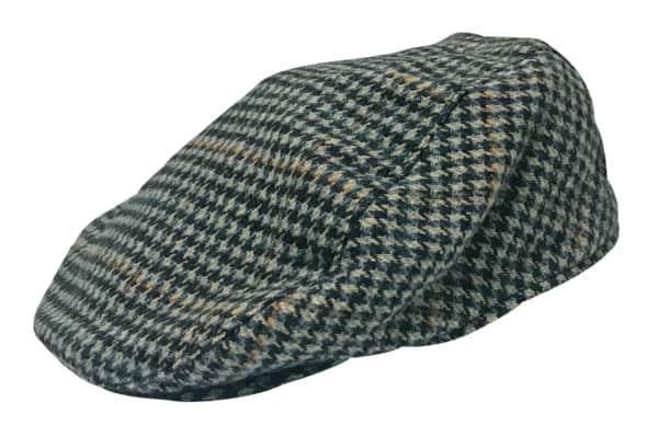 413f82dcbfffa Mens Vintage Houndstooth Check Plaid Wool Blend Winter Newsboy Tweed Flat  IVY Cap Hat