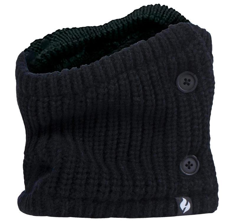 Heat Holders - Ladies Crochet Buttoned Neck Warmer
