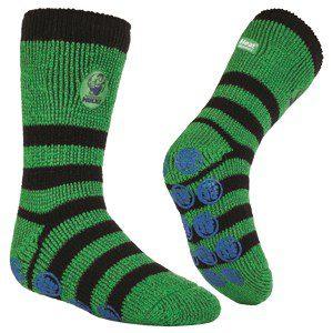 Boys Heat Holders Hulk Slipper Socks