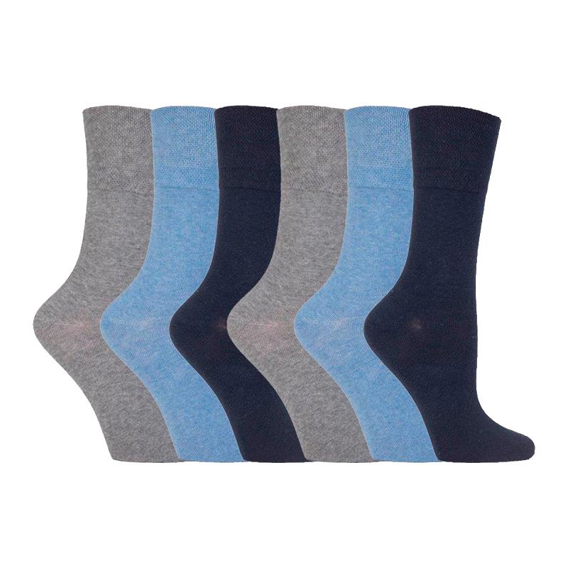 Ladies Women Diabetic Socks Merino Wool Black Non Elastic Wider Top UK Size 4-8