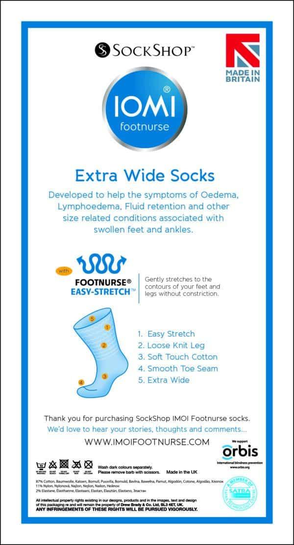 IOMI Oedema sock packaging