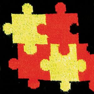 Jigsaw Red / Yellow