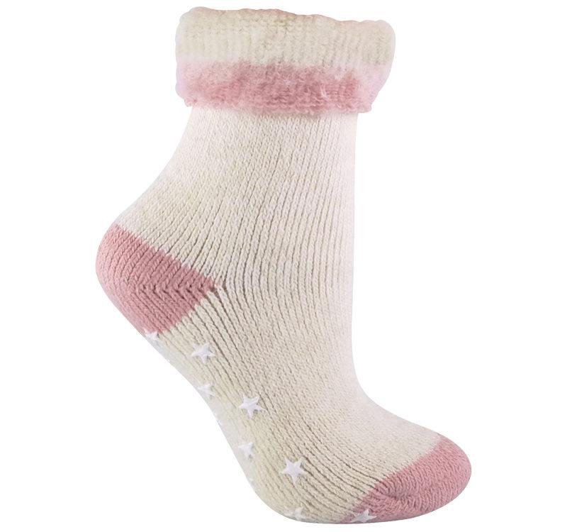 ladies turnover alpaca wool bed socks