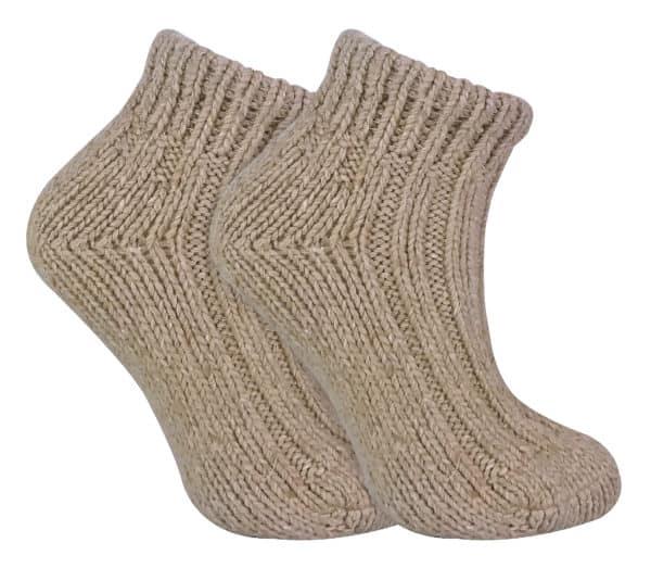 LWAS Beige Wool Ankle Socks