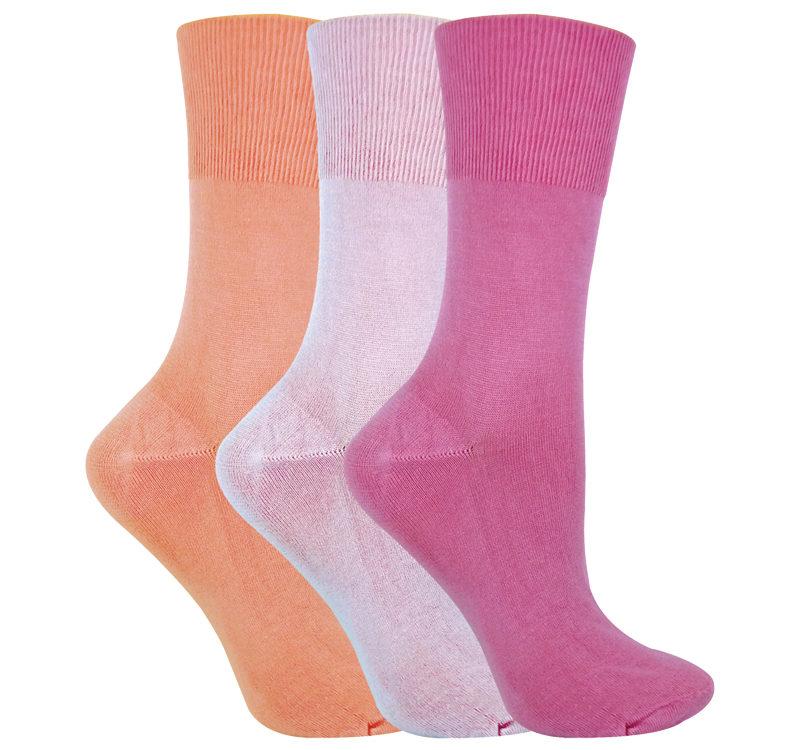 ladies 3 pairs thin non elastic bamboo socks