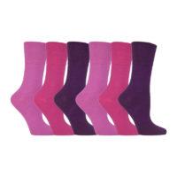 Gentle Grip - 6 Pairs of Soft Top Diabetic Socks for Ladies