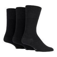 Gentle Grip - 3 Pairs of Ladies Wool Socks for Poor Circulation and Cold Feet