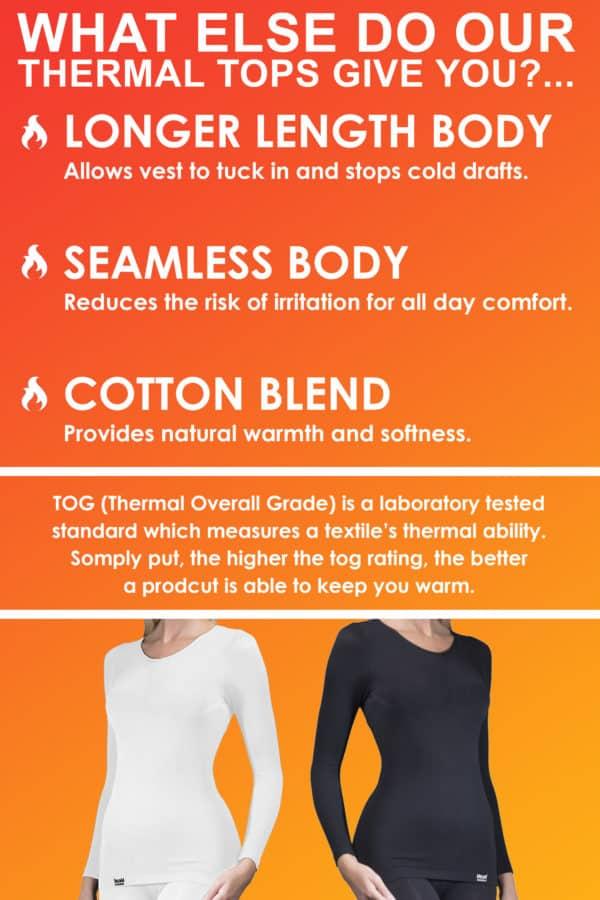 Ladies Thermal underwear info panel 2