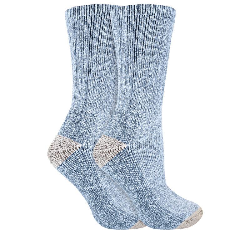 Ladies 2 pack antibacterial breathable cushioned heel and toe thermal wool hiking socks