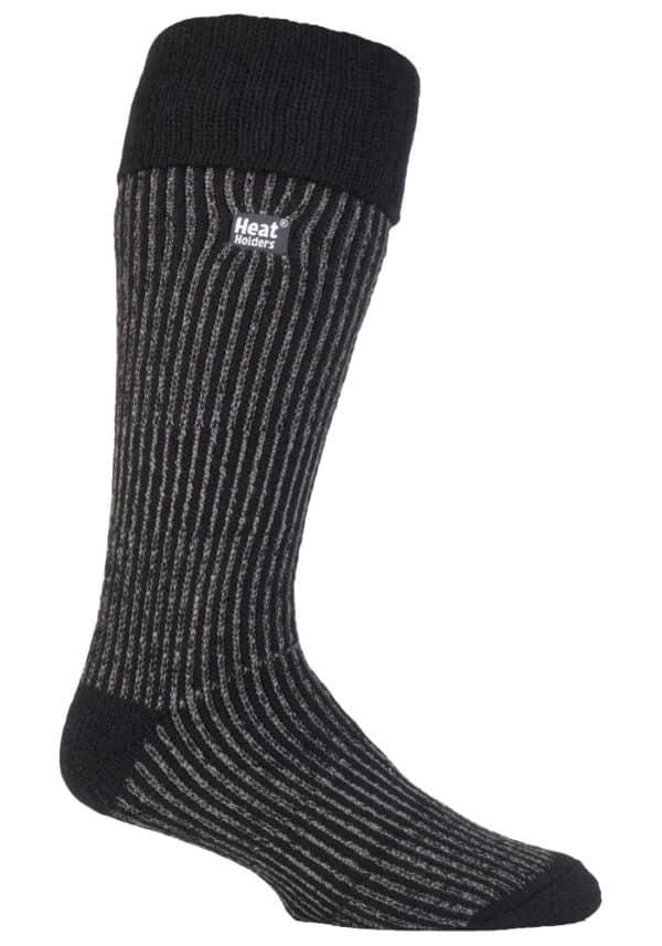 Mens Boot Sock Black Leg