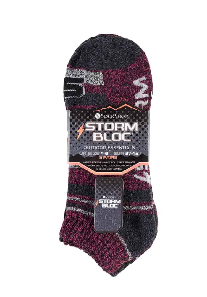 Ladies 3 Pair Storm Bloc Ankle Socks