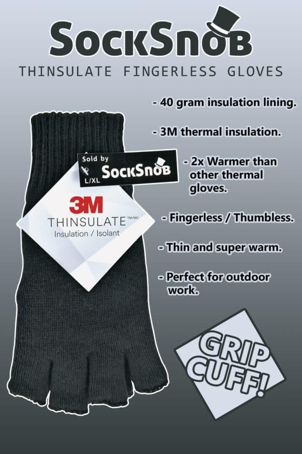 SS Thinsulate Fingerless Gloves INFO PANEL