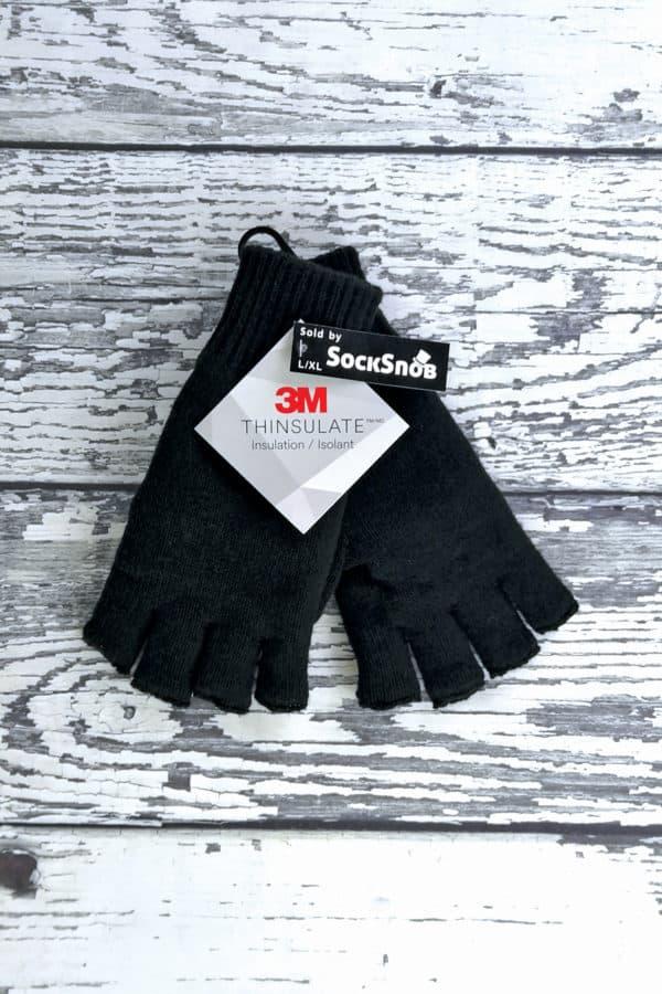 SS Thinsulate Fingerless Gloves WOOD