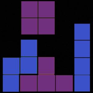 Tetris Blue / Purple