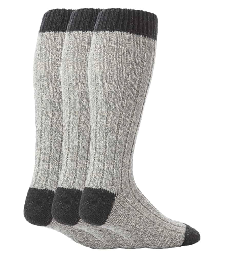 2,4 Pairs Men`s Black Lambs Wool Merino Socks Hiking Walking Socks UK 6-11