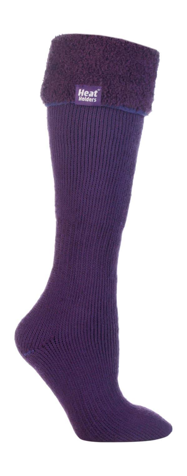 Wellington Boot Purple Leg Shot