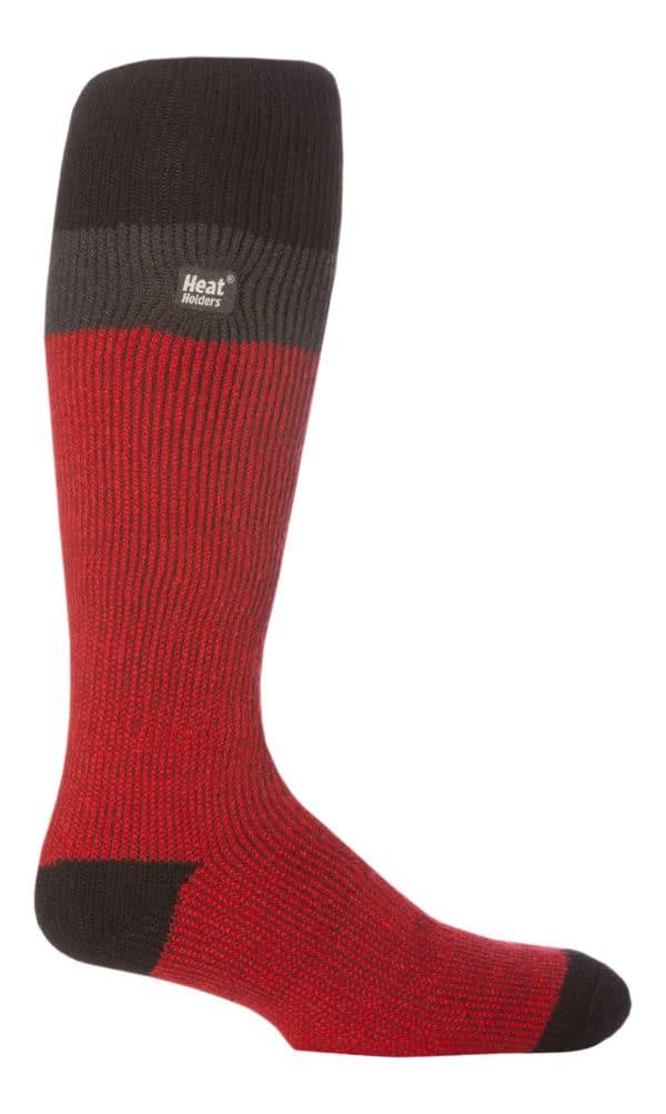 mens ski sock (RED - BLACK)