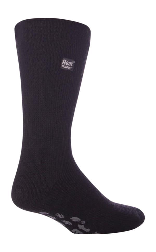 mens slipper black grey leg 1