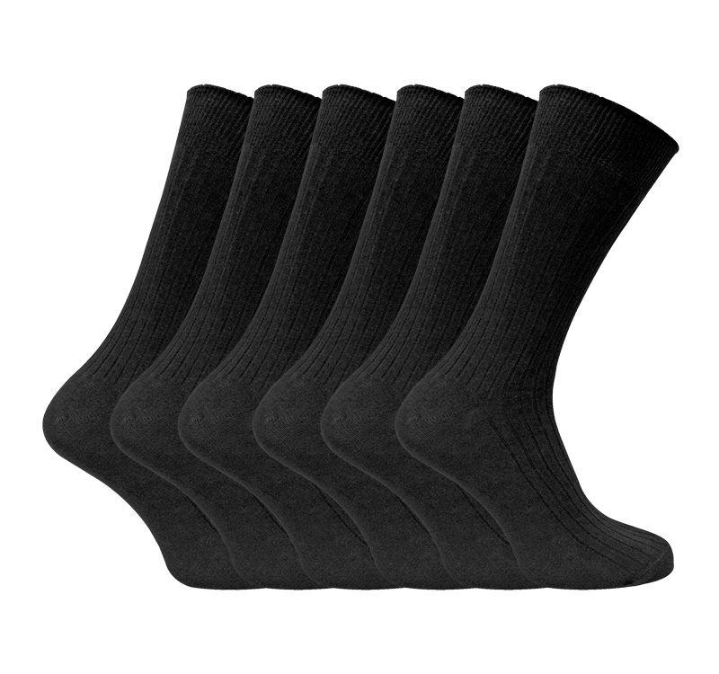 6 Pairs Mens Thin Soft 100% Cotton Coloured Socks