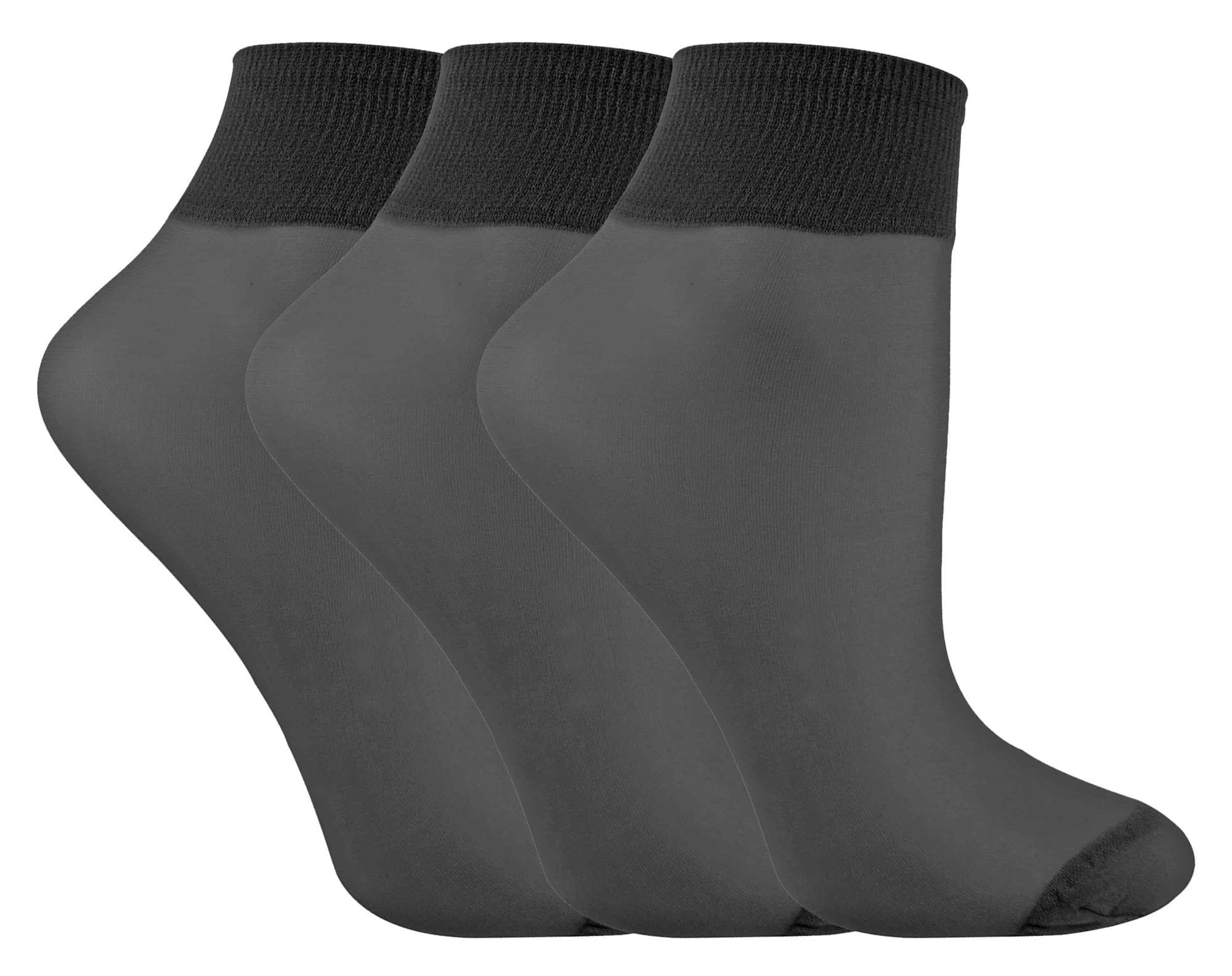 Ankle High Pop Socks in Black by LIVIA