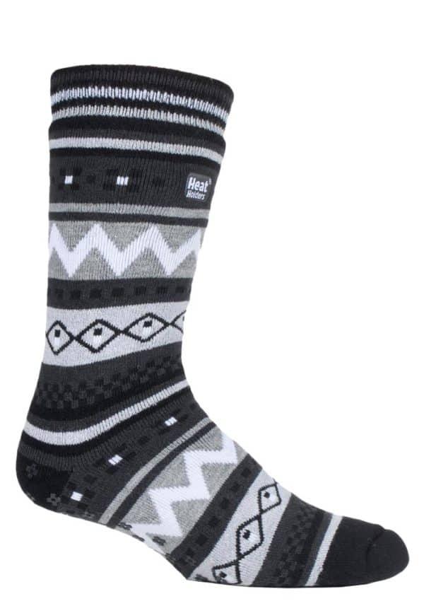 BSMHH901H1 - MENS BLACK-CHARCOAL SOUL WARMING LEG SHOT 1