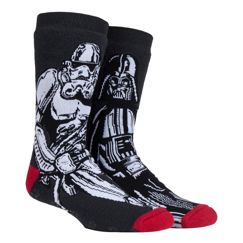 Heat Holders Mens Star Wars Slipper Socks with Grips
