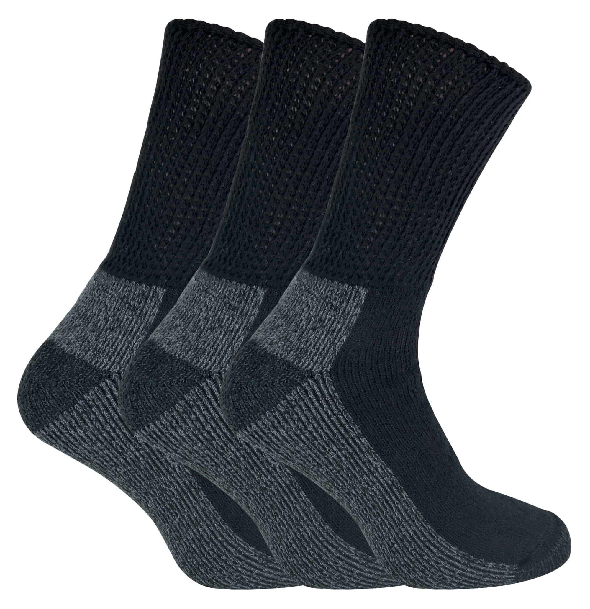 3 PAIRS LADIES OR MENS   LOOSE TOP COTTON SOCKS  FOR SWOLLEN ANKLES DIABETICS