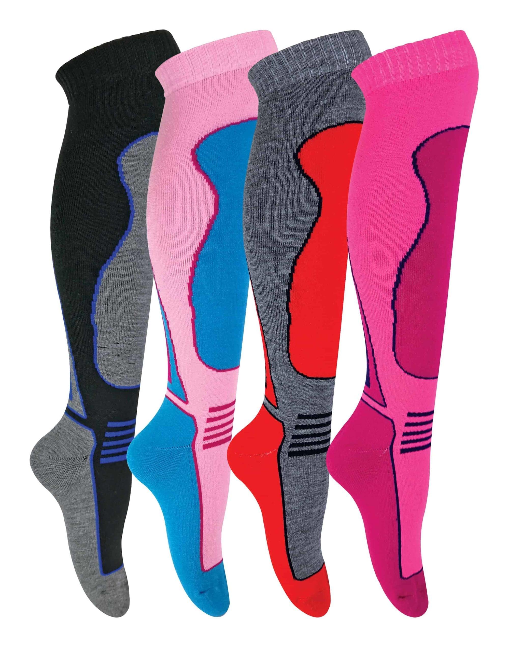 4 Pairs ladies ski socks.2.0 tog