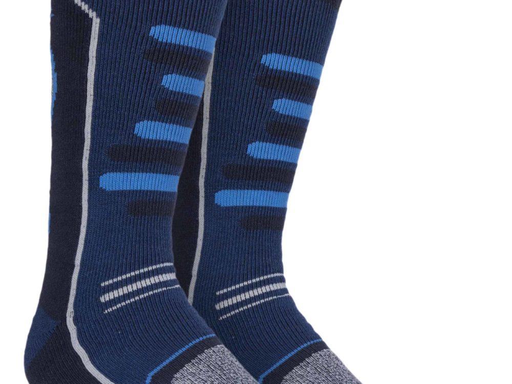 Mens Ski Socks Storm Bloc with an Blue Design