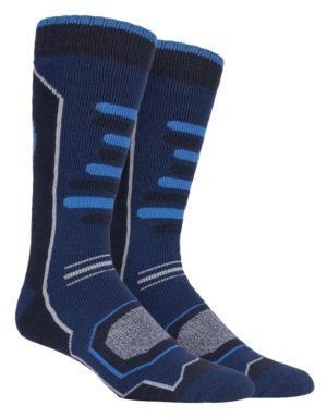 d0b21046bcc Mens Ski Socks Storm Bloc with an Blue Design