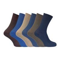 6 Pairs Ladies Non Elastic Soft Comfort Loose Gentle Grip Top Breathable Cotton Rich Socks Size 4-7 uk