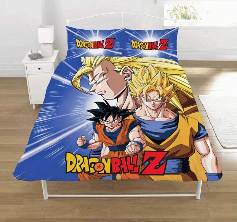 Dragon Ball Z Goku Reversible Double Duvet Cover Bedding Set