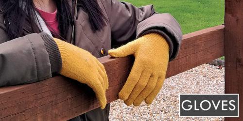 ladies gloves - mustard colour - sock snob uk