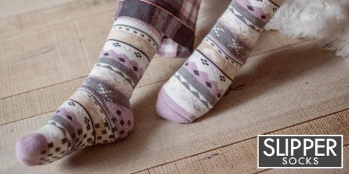 ladies slipper socks - heat holders soul warmers - sock snob