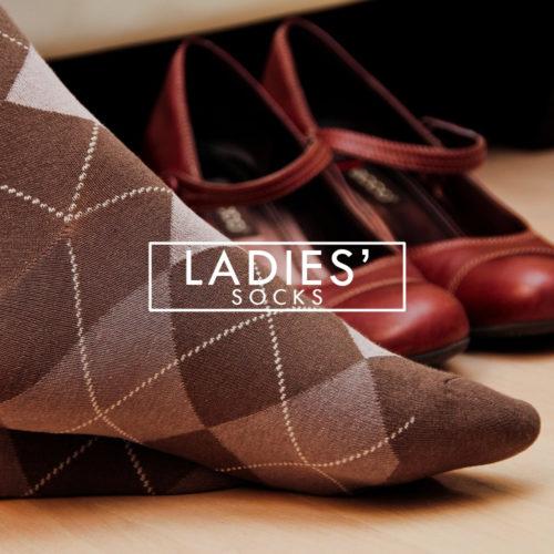 ladies' socks brown argyle soft thin gentle grip dress everyday pair