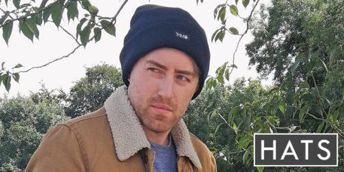 mens hats - mens THMO navy hat for winter - sock snob uk