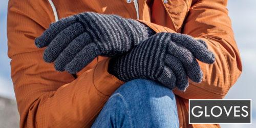 mens gloves - heat holders striped thermal gloves - sock snob uk