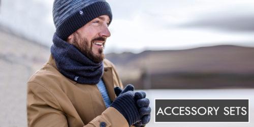 mens hat & gloves set - heat holders - sock snob uk