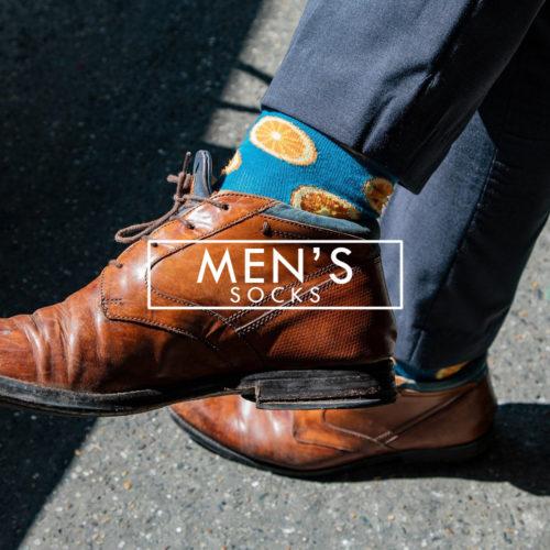 mens socks - shop mens socks online at sock snob uk - blue socks with fruit design