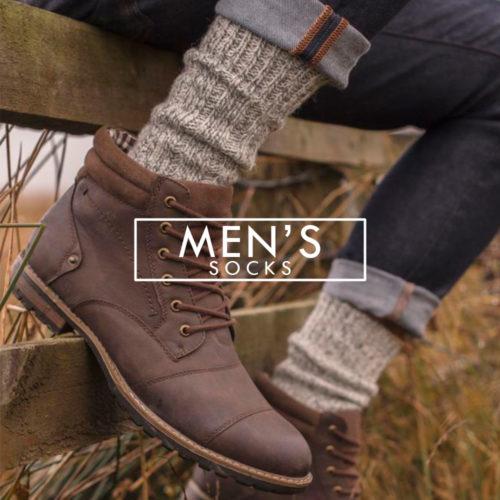 men's socks thick hiking walking wool blend grey outdoor pair