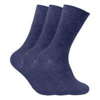 Mens 3 pack thermal non elastic diabetic friendly socks for poor circulation